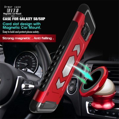 heavy duty Magnet Case For Samsung Galaxy A8